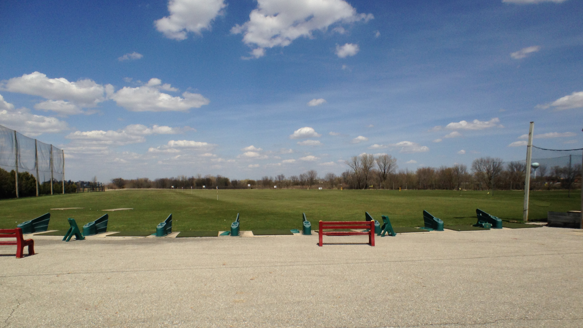 Driving range at North Iowa Golf