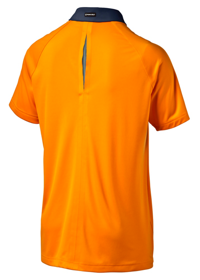 Golf shirts polos and tops at north iowa golf for Mens orange polo shirt