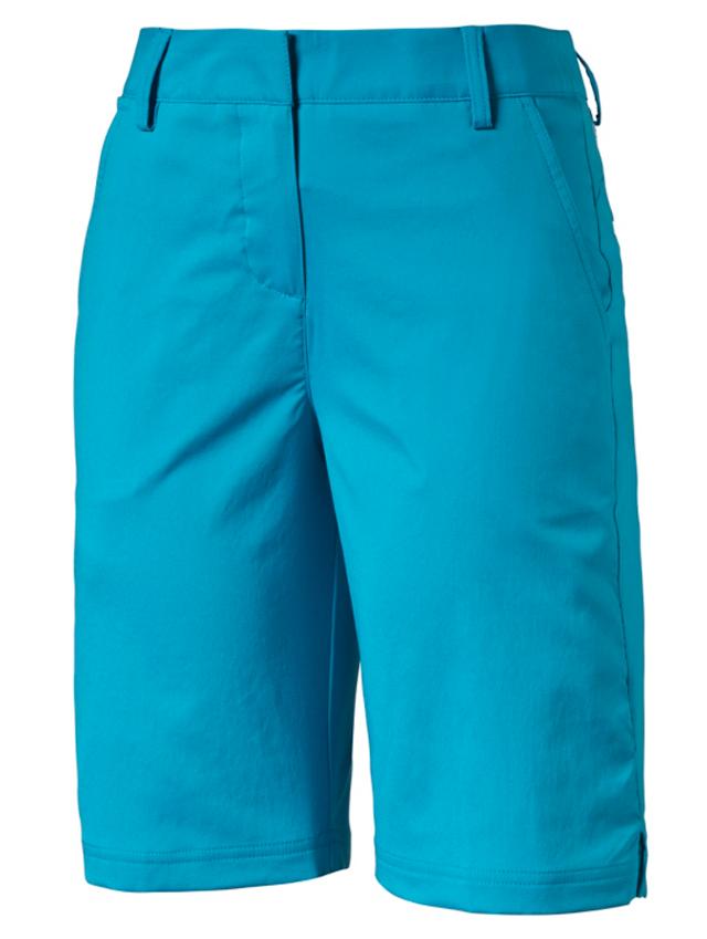 1de656cdbc9d Puma Ladies Tech Solid Bermuda Golf Shorts - Aqua